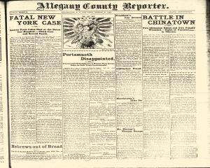 Allegany County Reporter, August 08, 1905, Page 1