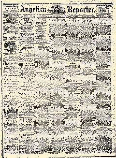Angelica Reporter newspaper archives