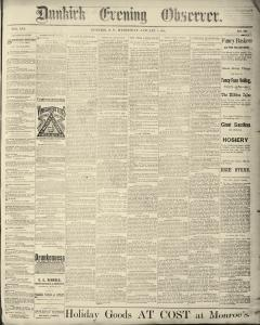 Dunkirk Evening Observer, January 08, 1890, Page 1