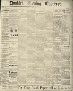 Dunkirk Evening Observer, January 17, 1890, Page 1