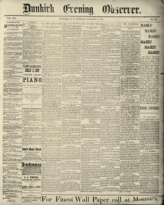 Dunkirk Evening Observer, January 21, 1890, Page 1