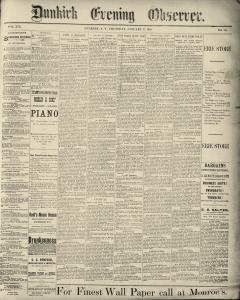 Dunkirk Evening Observer, January 23, 1890, Page 1