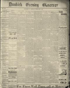 Dunkirk Evening Observer, February 03, 1890, Page 1