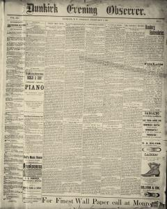 Dunkirk Evening Observer, February 04, 1890, Page 1