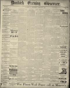 Dunkirk Evening Observer, February 05, 1890, Page 1
