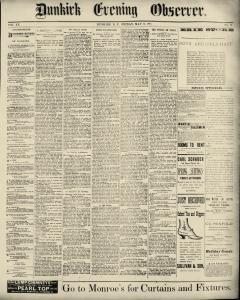 Dunkirk Evening Observer, May 16, 1890, Page 1