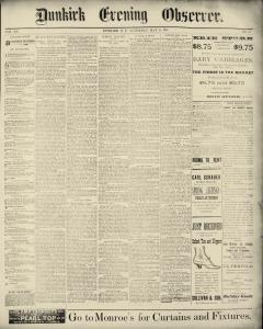 Dunkirk Evening Observer, May 24, 1890, Page 1