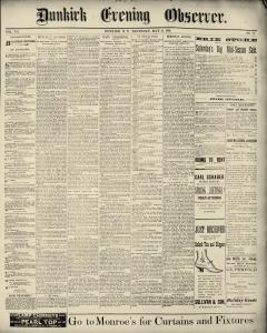 Dunkirk Evening Observer, May 29, 1890, Page 1