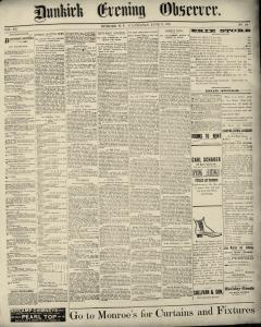 Dunkirk Evening Observer, June 11, 1890, Page 1