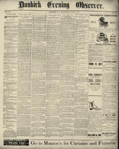 Dunkirk Evening Observer, June 12, 1890, Page 1