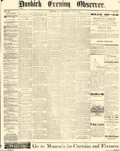 Dunkirk Evening Observer, July 09, 1890, Page 1