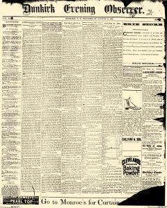 Dunkirk Evening Observer, August 13, 1890, Page 1