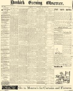 Dunkirk Evening Observer, August 23, 1890, Page 1