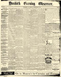 Dunkirk Evening Observer, September 26, 1890, Page 1