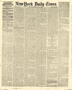 New York Daily Times, June 22, 1852, Page 1