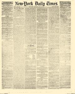 New York Daily Times, July 29, 1852, Page 1