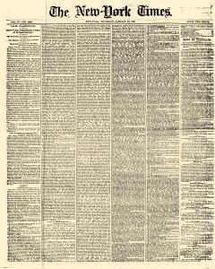 New York Times, January 26, 1860, Page 1