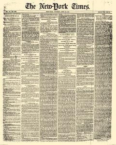 New York Times, April 24, 1860, Page 1