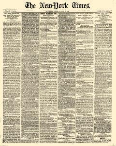 New York Times, August 10, 1860, Page 1