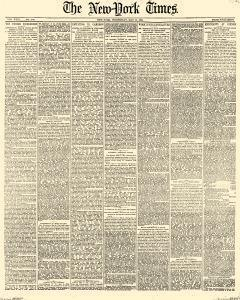 New York Times, May 10, 1882, Page 1