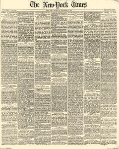 New York Times, November 23, 1882, Page 1