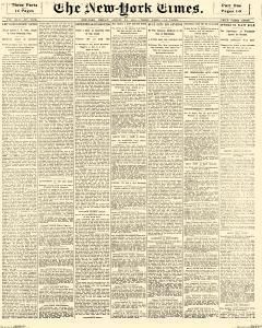 New York Times, August 23, 1891, Page 1