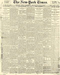 New York Times, September 01, 1896, Page 1