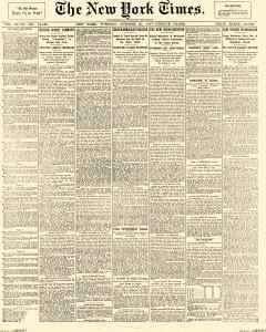 New York Times, October 19, 1897, Page 1