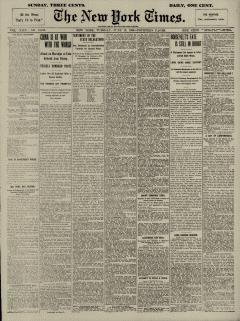 New York Times, June 19, 1900, Page 1