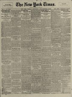 New York Times, September 03, 1901, Page 1