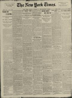 New York Times, October 31, 1902, Page 1
