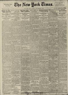 New York Times, April 16, 1906, Page 1
