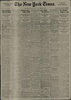 New York Times, March 05, 1908, Page 1