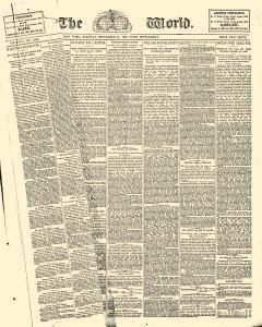 New York World, September 29, 1885, Page 1