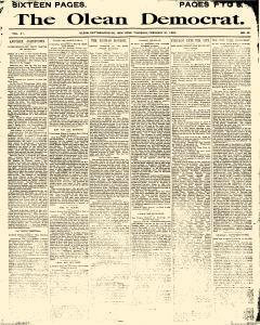 Olean Democrat, February 27, 1890, Page 1