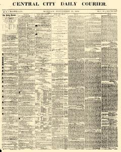 Central City Daily Courier, November 22, 1858, Page 1