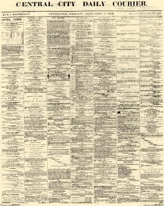 Central City Daily Courier, January 07, 1859, Page 1