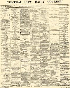 Central City Daily Courier, January 10, 1859, Page 1