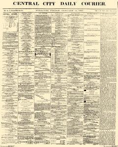 Central City Daily Courier, January 14, 1859, Page 1