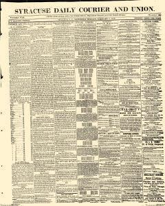 Syracuse Daily Courier And Union, February 08, 1865, Page 1