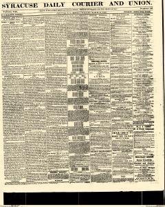 Syracuse Daily Courier And Union, March 13, 1865, Page 1