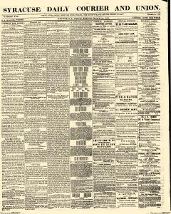 Syracuse Daily Courier And Union, March 24, 1865, Page 1