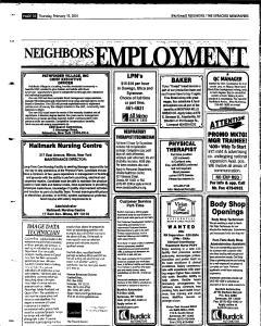 Syracuse Herald Journal, February 15, 2001, Page 112