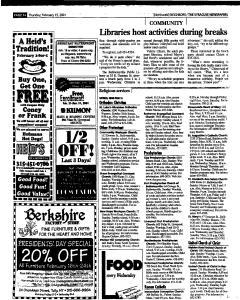 Syracuse Herald Journal, February 15, 2001, Page 132
