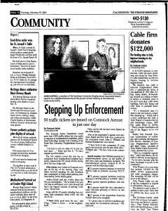 Syracuse Herald Journal, February 15, 2001, Page 168