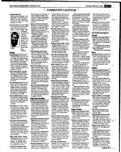 Syracuse Herald Journal, February 15, 2001, Page 175