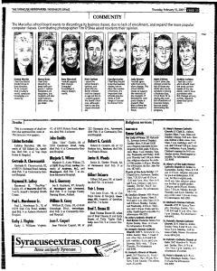 Syracuse Herald Journal, February 15, 2001, Page 215