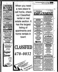 Syracuse Herald Journal, February 15, 2001, Page 225