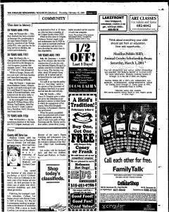 Syracuse Herald Journal, February 15, 2001, Page 263