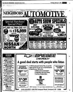 Syracuse Herald Journal, February 15, 2001, Page 155